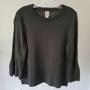 NEW H&M Flounce-sleeved Sweater